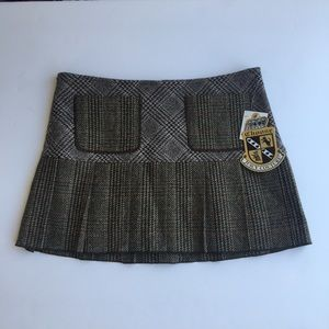 NEW Juicy Couture Grey Woven Skirt